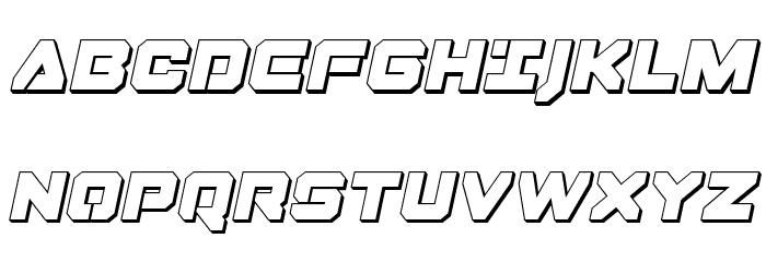 Domino Jack 3D Italic Italic フォント 大文字