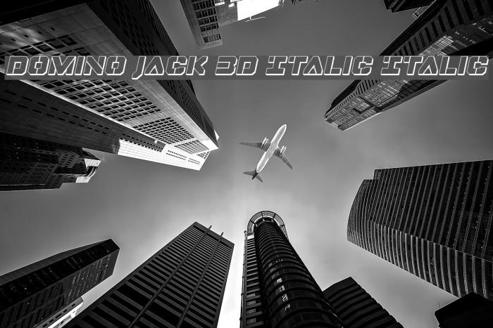 Domino Jack 3D Italic Italic フォント examples