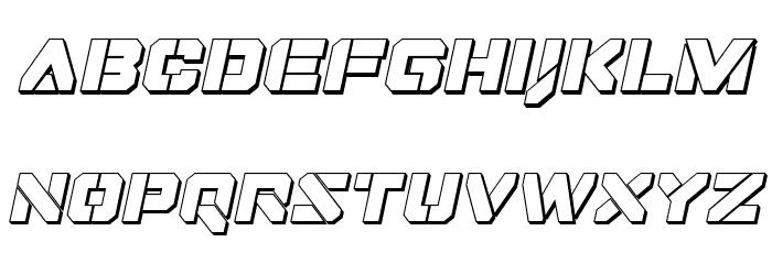 Domino Jack 3D Italic Italic フォント 小文字