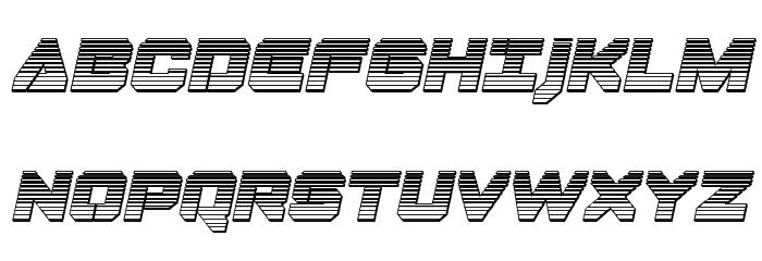 Domino Jack Chrome Italic Italic Font UPPERCASE