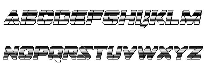 Domino Jack Chrome Italic Italic Font LOWERCASE