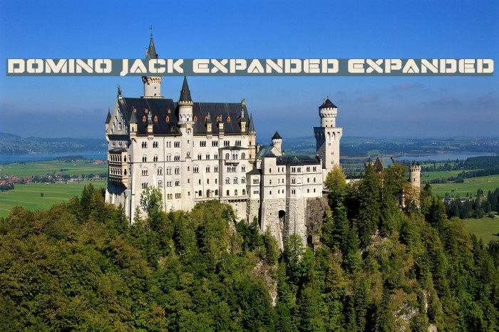 Domino Jack Expanded Expanded 字体 examples