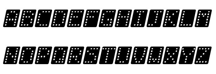 Domino bred kursiv Fonte MAIÚSCULAS