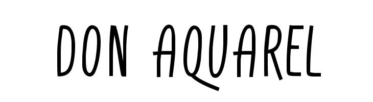 Don Aquarel  Free Fonts Download
