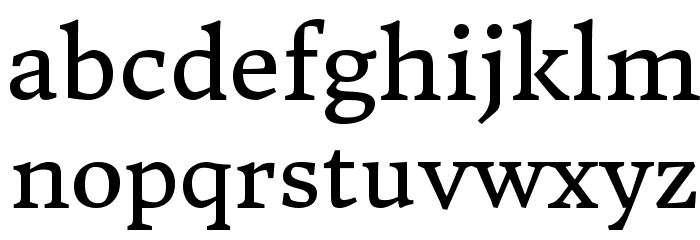 DonegalOne-Regular Font LOWERCASE