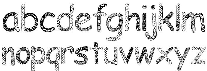 Doodlowers Font UPPERCASE