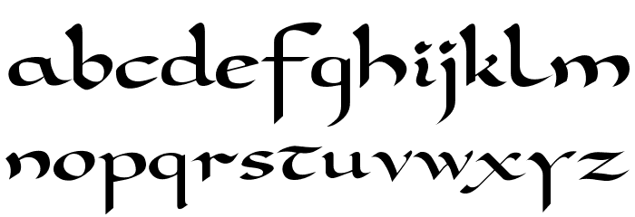 DorovarFLF-Carolus Font LOWERCASE