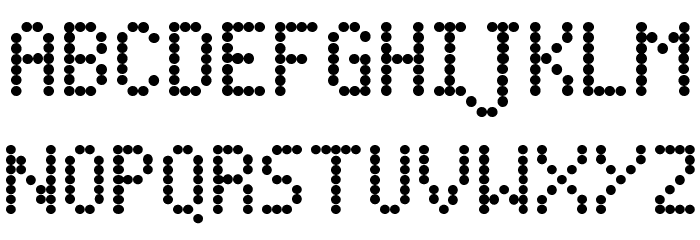 Dot Matrix Font UPPERCASE