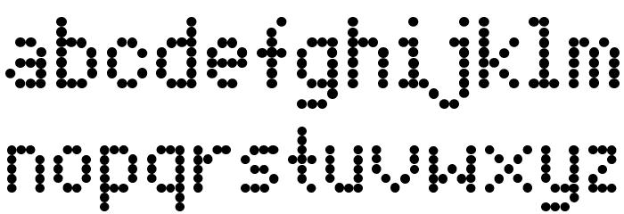 Dot Matrix Font LOWERCASE