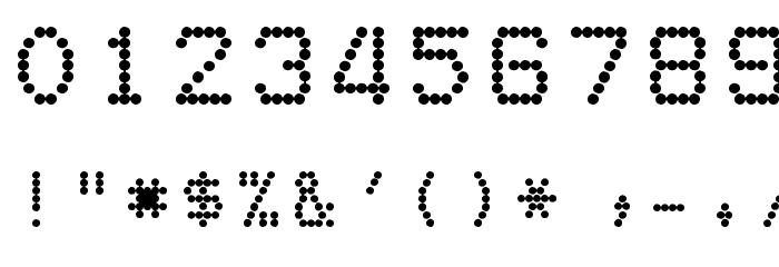 dotmatrix font