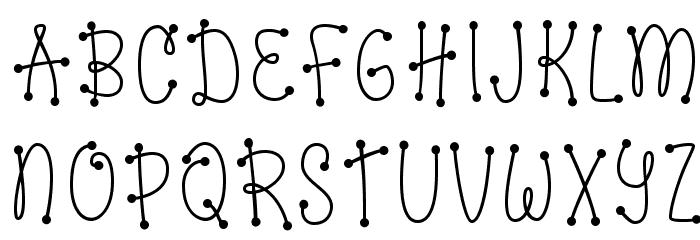 Dots of Fun Caps Regular Caratteri MAIUSCOLE