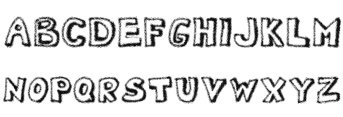 Dotted Newspaper Font UPPERCASE
