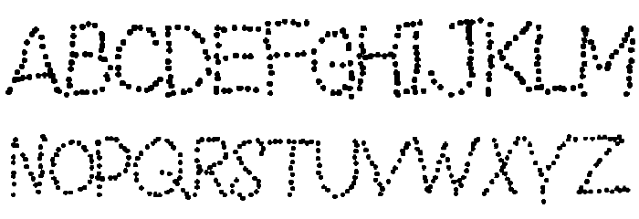 Dotted line Font UPPERCASE