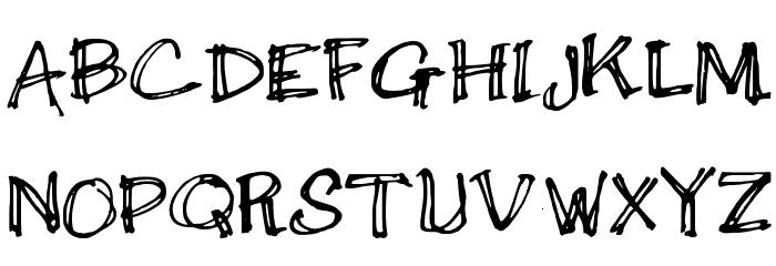 Double Scratch لخطوط تنزيل الأحرف الكبيرة