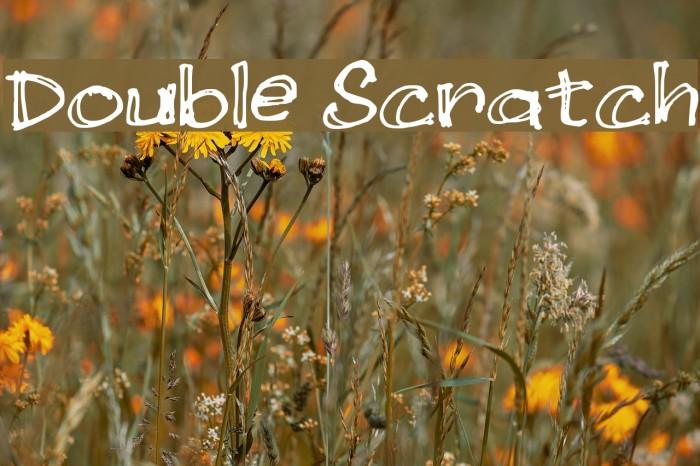 Double Scratch لخطوط تنزيل examples