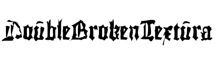 DoubleBrokenTextura  नि: शुल्क फ़ॉन्ट्स डाउनलोड