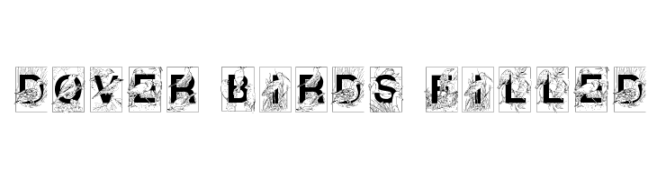 Dover Birds Filled  Free Fonts Download