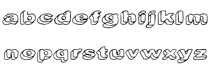 Downleft Font LOWERCASE