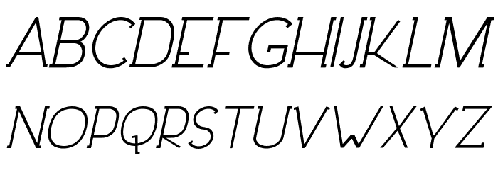 DowntownElegance-Italic フォント 大文字