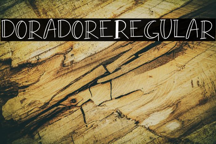 doradore-Regular फ़ॉन्ट examples