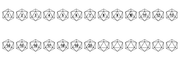 dPoly Duodecahedron Font LOWERCASE