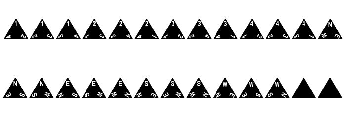dPoly Tetrahedron Font Litere mari