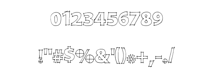 DraftQuick Font OTHER CHARS