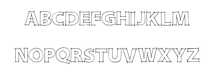 DraftQuick Font UPPERCASE