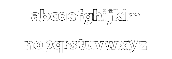DraftQuick Font LOWERCASE