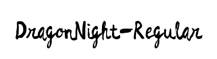 DragonNight-Regular Font