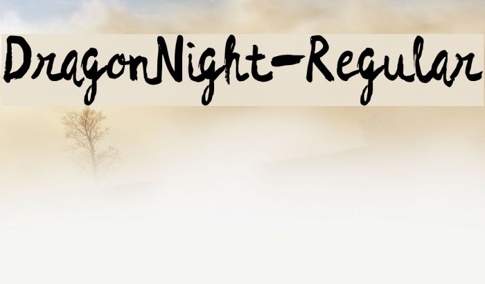 DragonNight-Regular Font examples