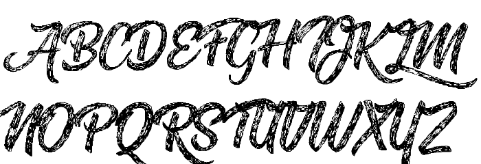 Drawing Nature Personal Use Font UPPERCASE