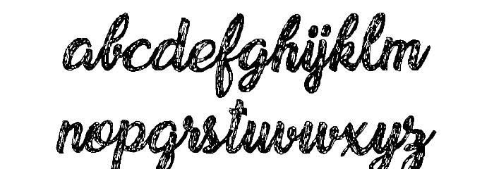 Drawing Nature Personal Use Font LOWERCASE