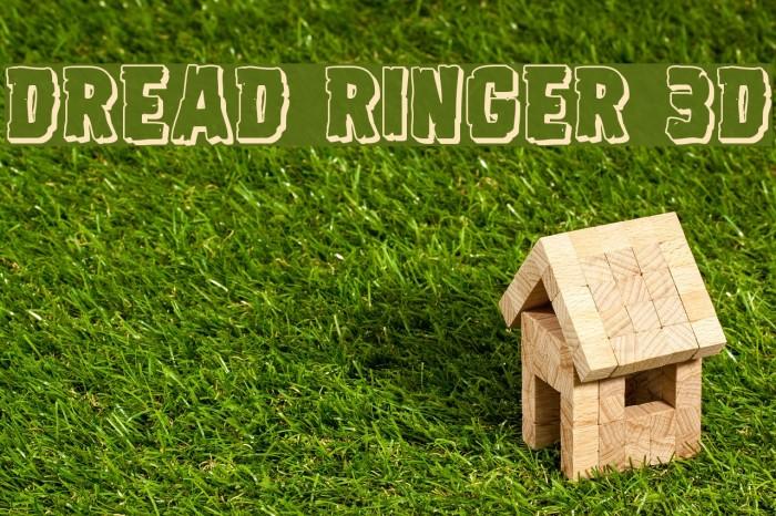 Dread Ringer 3D Font examples