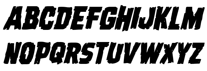 Dread Ringer Italic Font Litere mari
