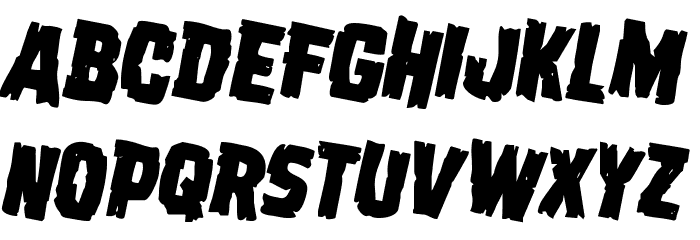 Dread Ringer Rotated 2 Font Litere mari