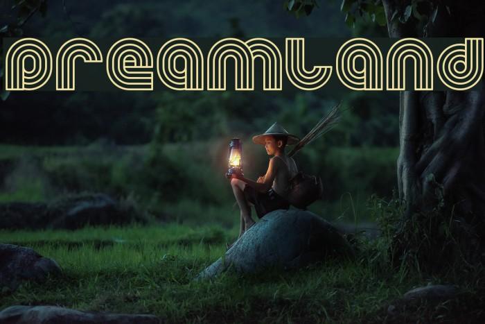 Dreamland फ़ॉन्ट examples