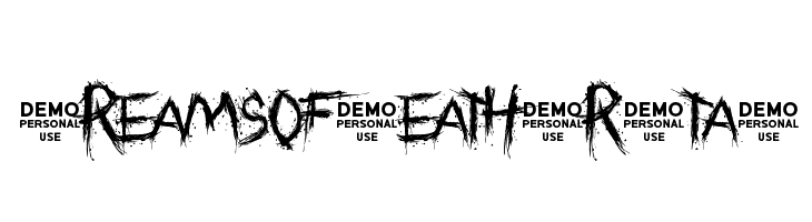 Dreams of Death Brutal  Free Fonts Download