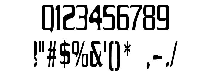 Drecknocratica Condensed Font OTHER CHARS