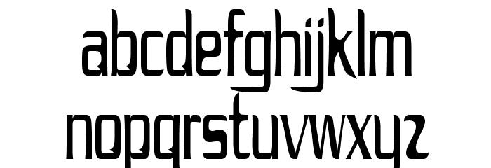 Drecknocratica Condensed Font LOWERCASE