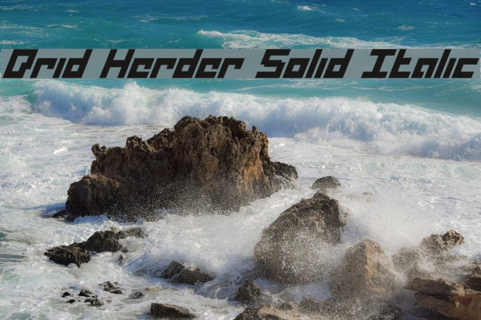 Drid Herder Solid Italic Fonte examples