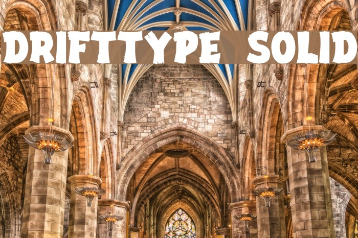 DriftType Solid Fonte examples