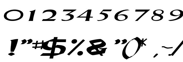 DriscollSSK BoldItalic Font OTHER CHARS