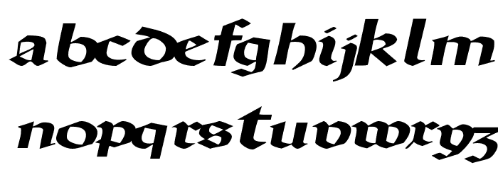 DriscollSSK BoldItalic Font LOWERCASE