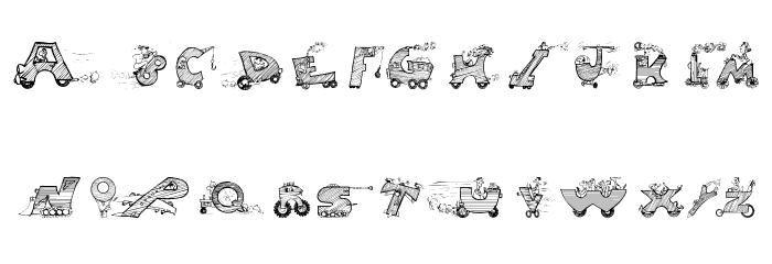 Drivers फ़ॉन्ट अपरकेस