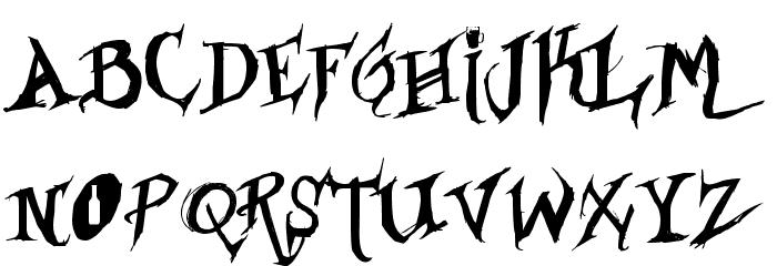 Drunked Serif Fuentes MAYÚSCULAS