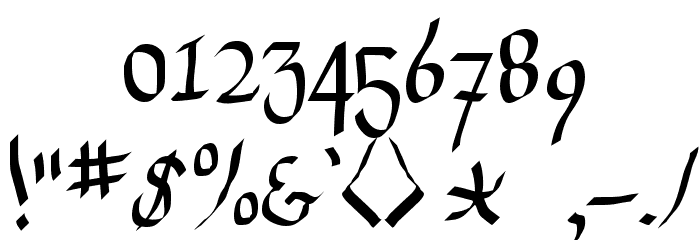 Drunken Calligrapher फ़ॉन्ट अन्य घर का काम