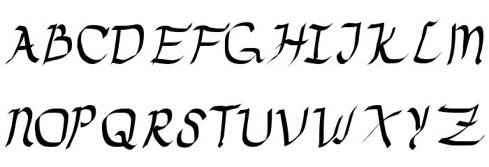 Drunken Calligrapher फ़ॉन्ट अपरकेस