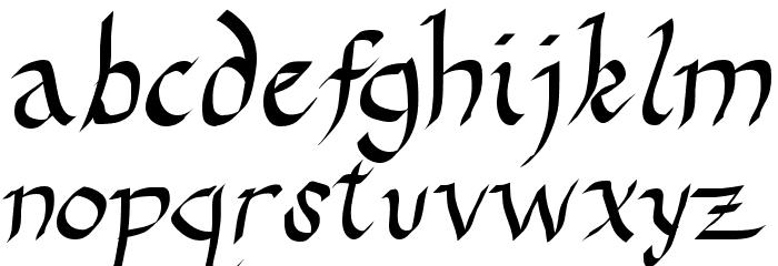 Drunken Calligrapher फ़ॉन्ट लोअरकेस