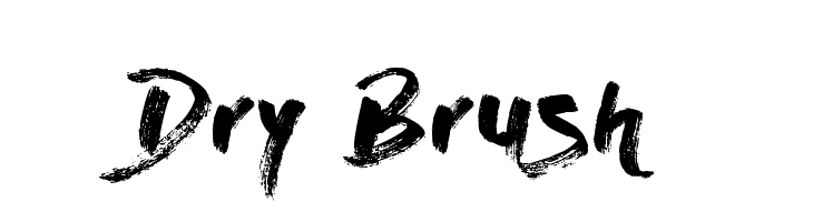 Dry Brush  Free Fonts Download